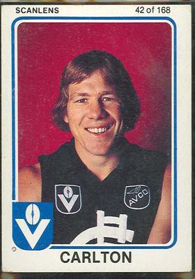 1981 Scanlens VFL Football Greg Wells trade card