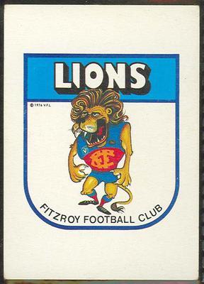 1981 Scanlens VFL Football Fitzroy Football Club trade card