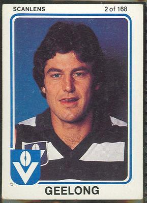 1981 Scanlens VFL Football David Clarke trade card