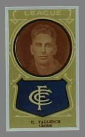 Trade card featuring Harry Vallence c1930s