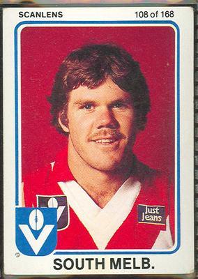 1981 Scanlens VFL Football Max Kruse trade card