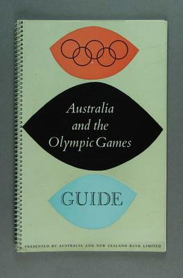 """Book - """"Australia and the Olympic Games: Guide""""; Documents and books; 1987.1762.6"""