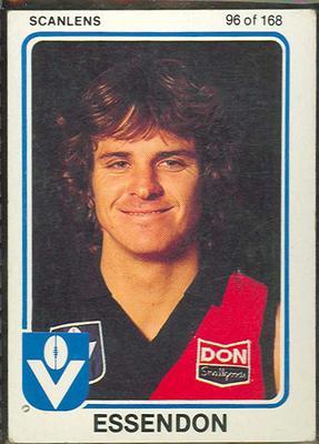 1981 Scanlens VFL Football Mervyn Neagle trade card