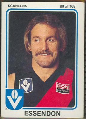 1981 Scanlens VFL Football Ken Mansfield trade card