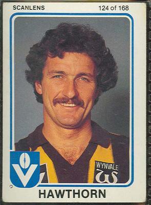 1981 Scanlens VFL Football Andrew Bennett trade card