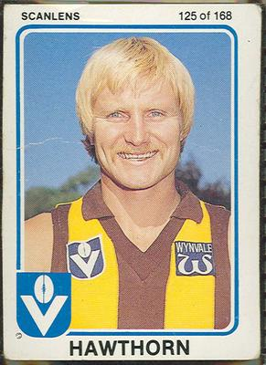 1981 Scanlens VFL Football Peter Knights trade card