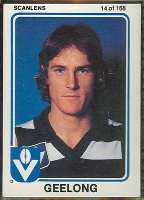 1981 Scanlens VFL Football Mark Bos trade card