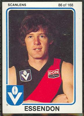 1981 Scanlens VFL Football Max Crow trade card; Documents and books; 1986.6.54