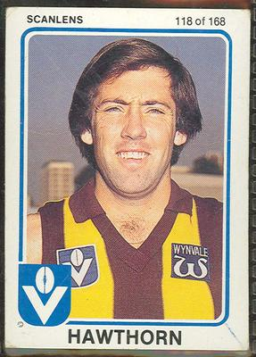 1981 Scanlens VFL Football Rick Davies trade card; Documents and books; 1986.6.55