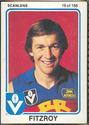 1981 Scanlens VFL Football Garry Wilson trade card