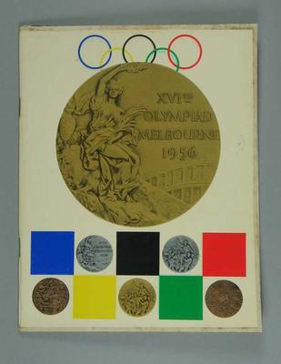 Book, 1956 Olympic Games
