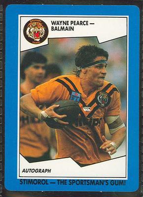 1989 Stimorol Rugby League Wayne Pearce trade card