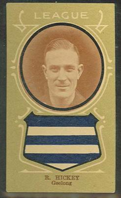 Trade card featuring Reg Hickey c1930s