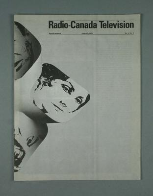 Programme, Radio Canada Television June-July 1978; Documents and books; 1987.1821.20