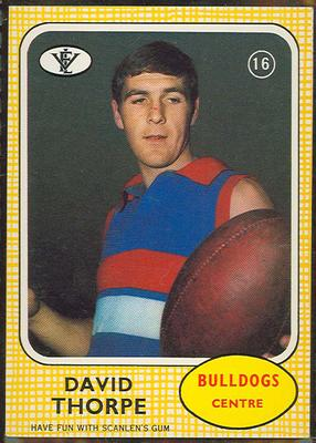 1972 Scanlens VFL Football David Thorpe trade card