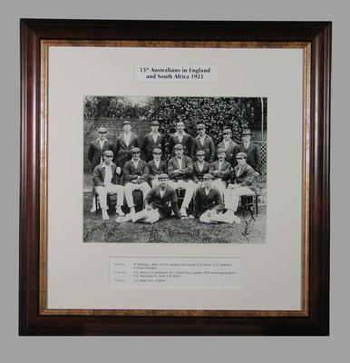 Photograph of 15th Australians in England & South Africa, 1921; Photography; Framed; M15368