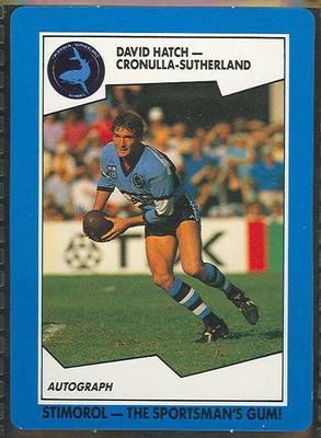 1989 Stimorol Rugby League David Hatch trade card