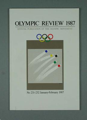 Olympic Review No 231-232, Jan-Feb 1987; Documents and books; 1988.1967.18