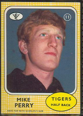 1972 Scanlens VFL Football Mike Perry trade card