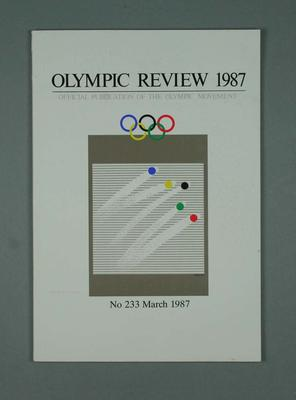 Olympic Review No 233, March 1987; Documents and books; 1988.1967.19