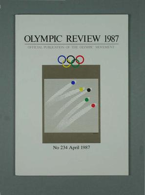 Olympic Review No 234, April 1987; Documents and books; 1988.1967.20