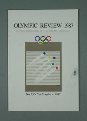 Olympic Review No 235-236, May-Jun 1987; Documents and books; 1988.1967.21