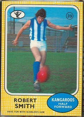 1972 Scanlens VFL Football Robert Smith trade card