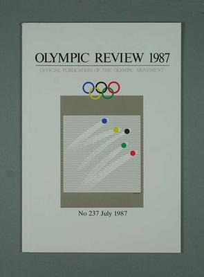 Olympic Review No 237, July 1987; Documents and books; 1988.1967.22