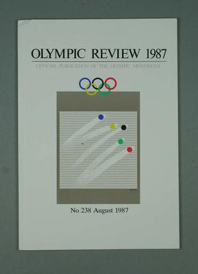 Olympic Review No 238, August 1987; Documents and books; 1988.1967.23