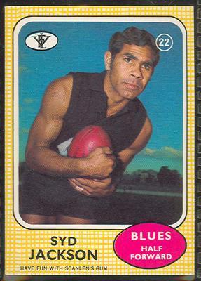 1972 Scanlens VFL Football Syd Jackson trade card
