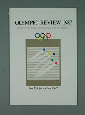 Olympic Review No 239, September 1987; Documents and books; 1988.1967.24