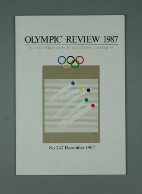 Olympic Review No 242, December 1987; Documents and books; 1988.1967.26