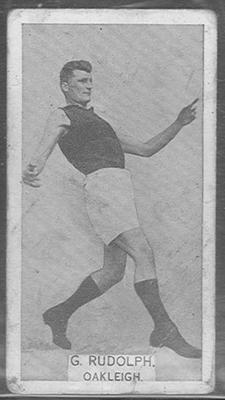 1933 W D & H O Wills Footballers George Rudolph trade card