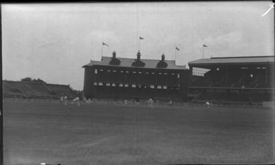 Glass negative, image of the Melbourne Cricket Ground c1930