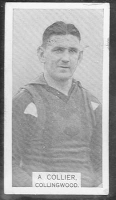 1933 W D & H O Wills Footballers Albert Collier trade card