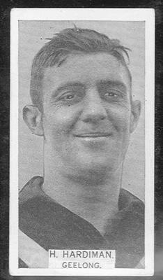 1933 W D & H O Wills Footballers Harry Peter Hardiman trade card