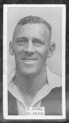 1933 W D & H O Wills Footballers Stuart King trade card