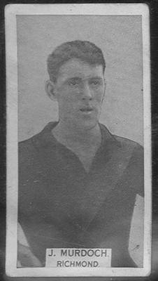 1933 W D & H O Wills Footballers Arthur (Joe) Murdoch trade card
