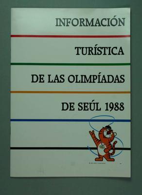 "Guide book, ""Information Turistica de las Olimpiadas de Seul 1988"""