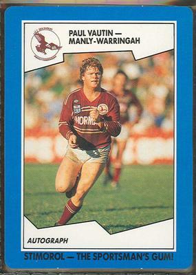 1989 Stimorol Rugby League Paul Vautin trade card