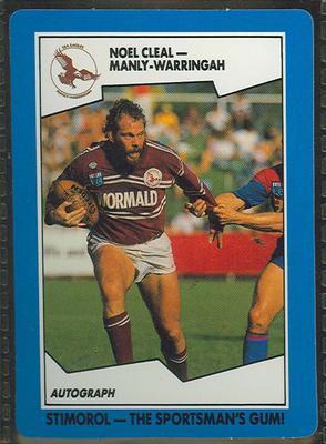 1989 Stimorol Rugby League Noel Cleal trade card
