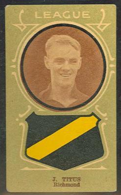Trade card featuring Jack Titus c1930s