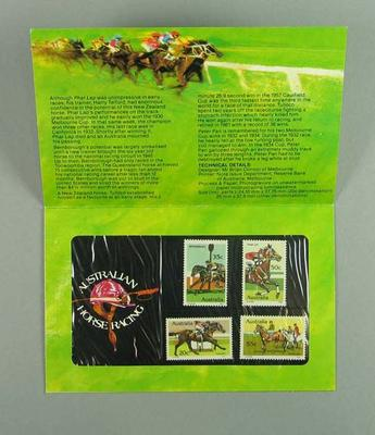 Stamp pack, Australian Horse Racing stamp issue