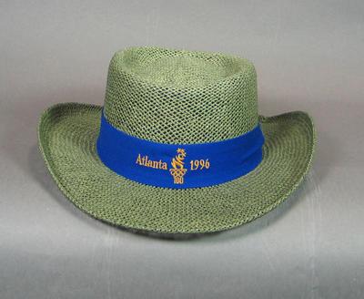 Hat worn by volunteers, 1996 Atlanta Olympic Games
