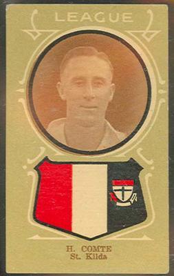 Trade card featuring Harold Comte c1930s