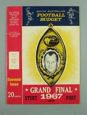 Magazine, South Australian Football Budget 1967