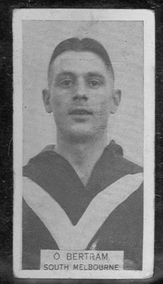 1933 W D & H O Wills Footballers Ossie Bertram trade card
