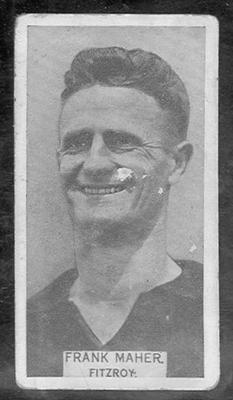 1933 W D & H O Wills Footballers Frank Maher trade card