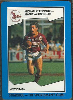 1989 Stimorol Rugby League Michael O'Connor trade card; Documents and books; 1989.2131.49