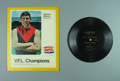 Vinyl record, 3UZ interview with Hassa Mann c1960s